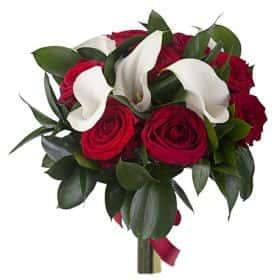 Букет с розами и каллами «Элеганс» (малый)