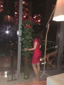 15 гигантских красных роз 200см