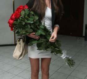 21 длинная роза 120 см