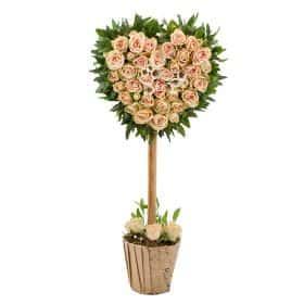 Цветочное дерево «Сердце нежное»