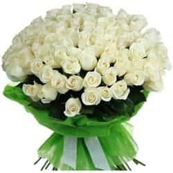 Розы Белые Кенийские 40 см 101 шт