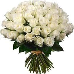 Кенийские розы Белые 40 см 51 шт
