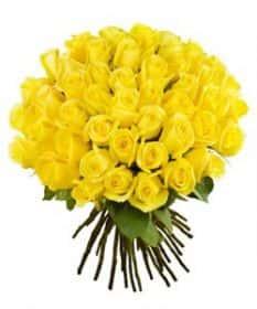 Кенийские розы Желтые 40 см 51 шт