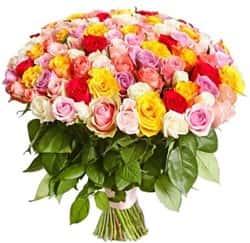 Кенийские розы Микс 40 см 101 шт
