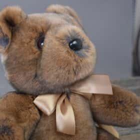 Меховой мишка «Тедди» (коричневый)