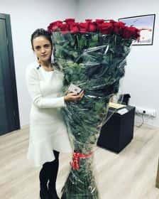 75 гигантских красных роз 170 см