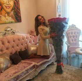 25 длинных роз 140 см
