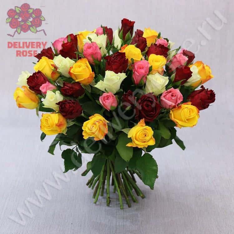 букет 51 роза своими руками