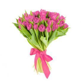 Тюльпаны розовые 25 шт