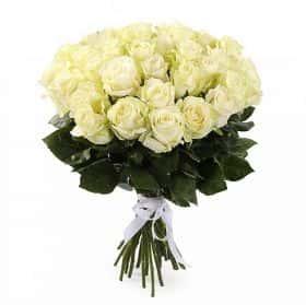 Букет Белые ночи (35 белых роз)