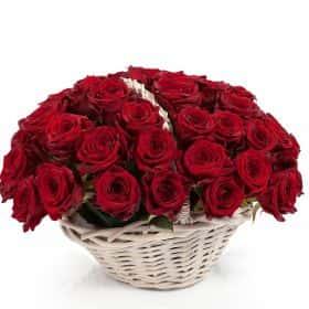 Пламя чувств (51 роза)