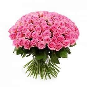Букет Розовый фламинго (101 роза)