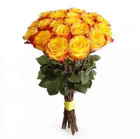 Букет Огненный поцелуй (21 роза)