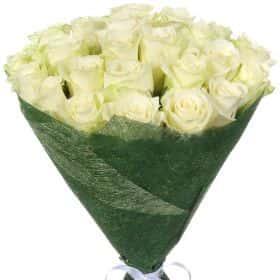"Букет из 25 белых роз ""Атена"""