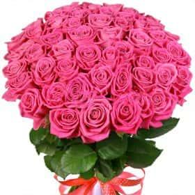 """Букет из 51 розовой розы """"Аква"""""""