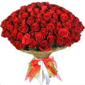 """Букет из 101 красной розы """"Аппер Класс"""""""