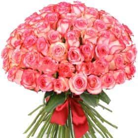 """Букет из 75 роз """"Карусель"""""""