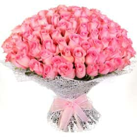 """Букет из 101 розовой розы """"Ревивал"""""""