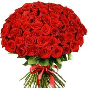 """Букет из 75 красных роз """"Ред Наоми"""""""