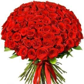 """Букет из 101 красной розы """"Ред Наоми"""""""