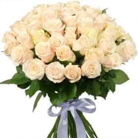 """Букет из 51 кремовой розы """"Талея"""""""