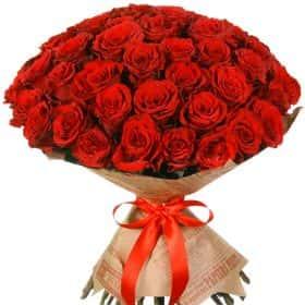 """Букет из 51 красной розы """"Аппер Класс"""""""
