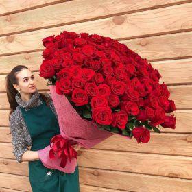 101 Красная роза, высота 1 метр