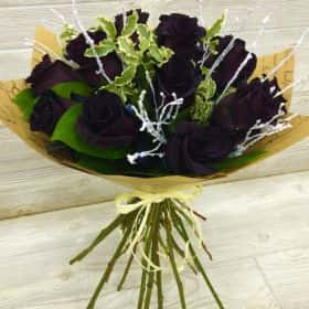 Букет из 15 черных роз
