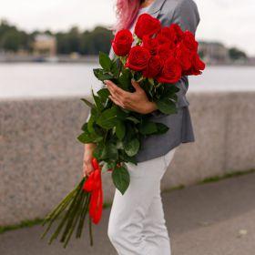 15 длинных роз 120 см