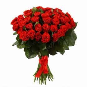 Букет 51 красная роза, 50 см