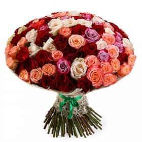 Букет Буйство фантазии (101 роза)