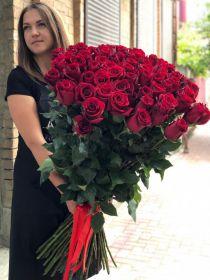 35 длинных роз 110 см
