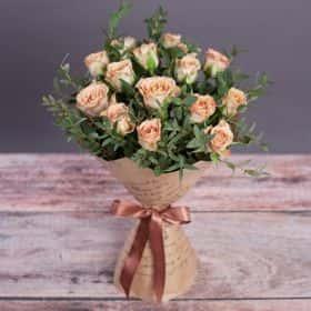 Букет «Капучино» (15 роз)