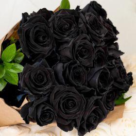 Букет из 17 черных роз