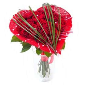 Букет «Сердце из роз»
