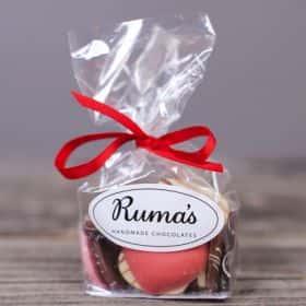Шоколадные сердца «Rumas» 100 гр.