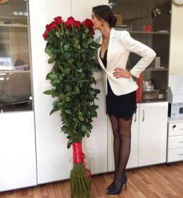 31 гигантская Красная роза 160 см