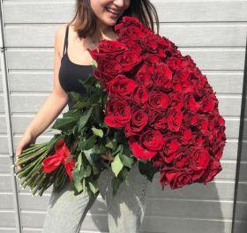 51 длинная роза 110 см