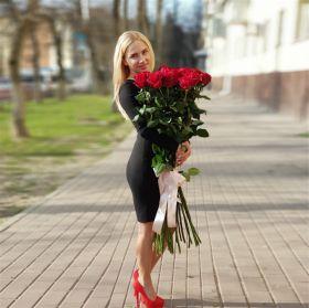 21 длинная роза 130 см