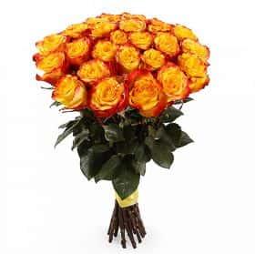 Букет Огненный поцелуй (25 роз)
