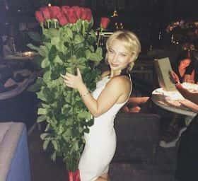 11 гигантских красных роз 200см