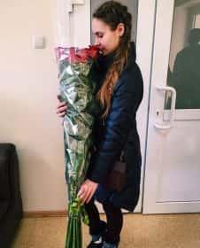 9 длинных роз 140 см