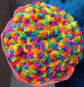 Букет из 101 радужной розы 70-90 см