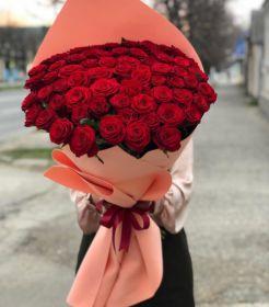 51 Красная роза, высота 1 метр