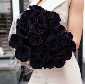 Букет из 25 черных роз
