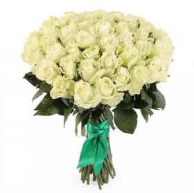 Букет Белые ночи (51 белых роз)