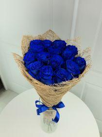 Синие розы - 15 шт.