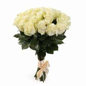 Букет Белый танец (21 белая роза)