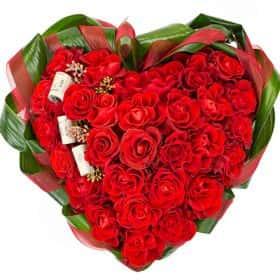 Цветочное сердце «Мелодия любви»