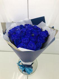 Синие розы - 25 шт.